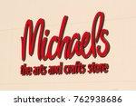 michaels is a popular retail... | Shutterstock . vector #762938686