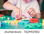 middle section of little boy... | Shutterstock . vector #762942502