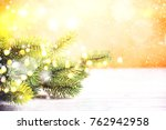 christmas background. happy new ... | Shutterstock . vector #762942958