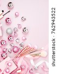 flat lay holiday background... | Shutterstock . vector #762943522