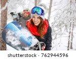 beautiful young female... | Shutterstock . vector #762944596