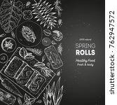 asian food menu design template.... | Shutterstock .eps vector #762947572