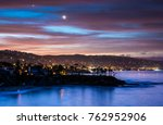 Small photo of Coastal Landscape Photograph of Orange County, California beach at sunset