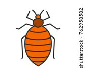 bed bug color icon. human... | Shutterstock .eps vector #762958582