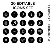 set of 20 melody filled and... | Shutterstock .eps vector #762968566