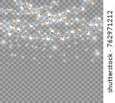 christmas lights isolated... | Shutterstock .eps vector #762971212