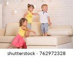 children play in the room at...   Shutterstock . vector #762972328