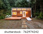Small Wooden Cabin House In Th...