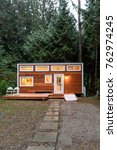 small wooden cabin house in the ... | Shutterstock . vector #762974245
