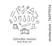 hand drawn doodle ceramic... | Shutterstock .eps vector #762979516