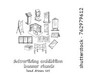 hand drawn doodle advertising... | Shutterstock .eps vector #762979612