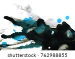 abstract ink background. marble ... | Shutterstock . vector #762988855