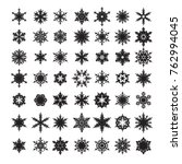 big set of snowflakes... | Shutterstock .eps vector #762994045