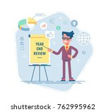 confident young man is standing ... | Shutterstock .eps vector #762995962