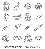 military or army icons thin... | Shutterstock .eps vector #762996112