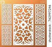 ornamental panels template set... | Shutterstock .eps vector #762997246