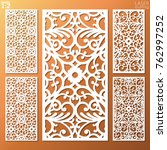 ornamental panels template set... | Shutterstock .eps vector #762997252