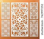 ornamental panels template set... | Shutterstock .eps vector #762997252