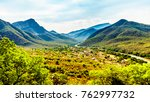 view of the valley of the... | Shutterstock . vector #762997732