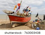 Fishingboats On The Shore In...