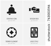 set of 4 editable game icons....