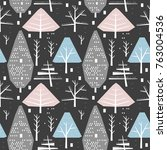 winter seamless pattern of... | Shutterstock .eps vector #763004536