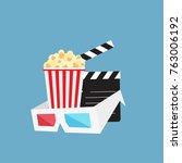 cinema background with cinema... | Shutterstock .eps vector #763006192