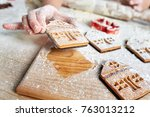 child's hands decorate... | Shutterstock . vector #763013212