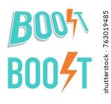 vector illustration of boost... | Shutterstock .eps vector #763019485
