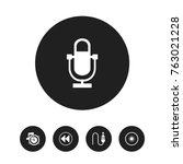 set of 5 editable media icons....
