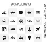 set of 20 editable transport...