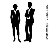 vector silhouettes of... | Shutterstock .eps vector #763036102