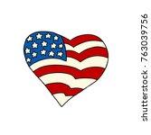 usa heart patriotic symbol....