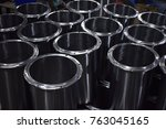 metal containers in production | Shutterstock . vector #763045165