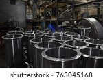 metal containers in production | Shutterstock . vector #763045168