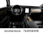 modern luxury prestige car... | Shutterstock . vector #763058398