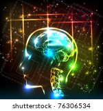 abstract human brain background ... | Shutterstock .eps vector #76306534