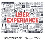 user experiance   hand drawn... | Shutterstock .eps vector #763067992