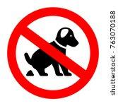 No Dog Poop Vector Symbol...