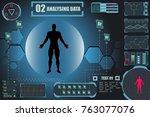 human hud infographic elements. ...