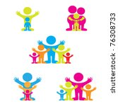 set of icons   the family | Shutterstock .eps vector #76308733