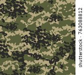 camouflage pattern background.... | Shutterstock .eps vector #763088812