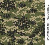 camouflage pattern background.... | Shutterstock .eps vector #763088812