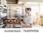 Baker Woman Getting Bakery...
