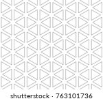 seamless pattern of triangles... | Shutterstock .eps vector #763101736