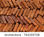 a pile of bricks background... | Shutterstock . vector #763103728