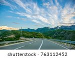 a picturesque journey along the ... | Shutterstock . vector #763112452