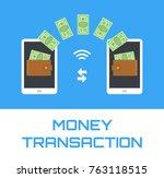 money transfer transaction... | Shutterstock .eps vector #763118515