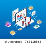 data analysis and training | Shutterstock .eps vector #763118566