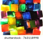A Tray Of Colored Ice Cubes For ...